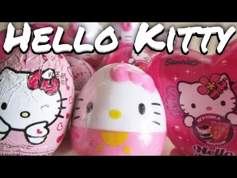 Opening 9 Hello Kitty surprise eggs! ハローキティ Sanrio Hello Kitty HD.