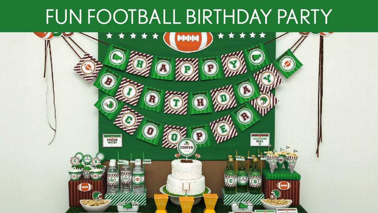 Football Birthday Party Games Fun Football Birthday Party