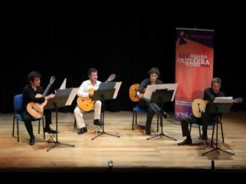 Cuarteto de Guitarras - Marco Smaili, Carles Trepat, M.Angel Rodriguez yÁlex Garrobé.