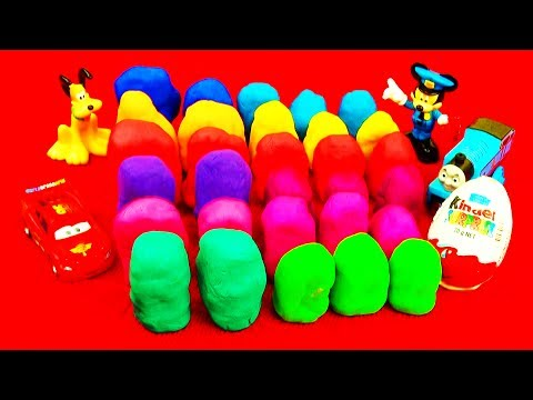 30 Surprise Eggs! Play-Doh Hello Kitty Toy Story Cars Barbie Kinder Surprise Playdough Disney Pixar