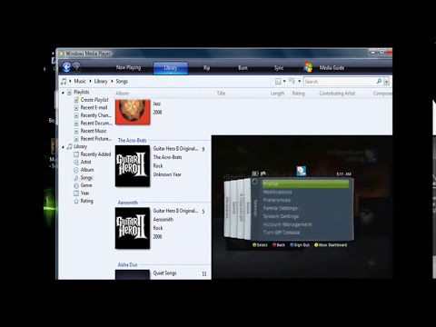 Stream music to xbox 360 with Windows media Player