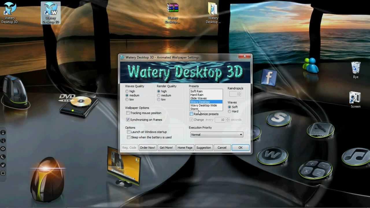 watery desktop 3d full 3 9 serial   youtube