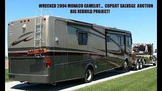 Wrecked Monaco Motorhome from Copart rebuild video #7