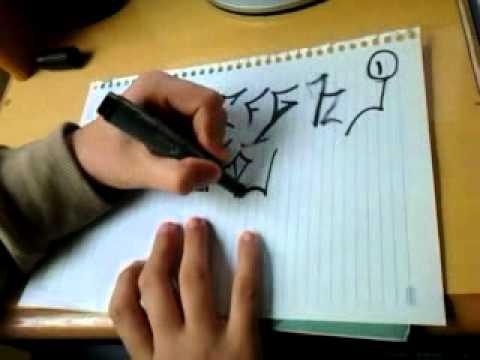 Alfabeto de Letras Graffitis Letras de Pichado Alfabeto
