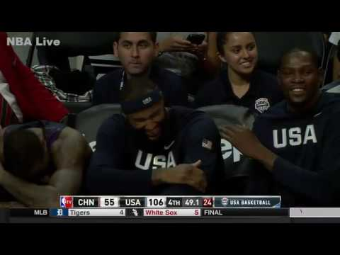 KD, Melo and Cousins Laugh at DeAndre Jordan Airballs Free Throw