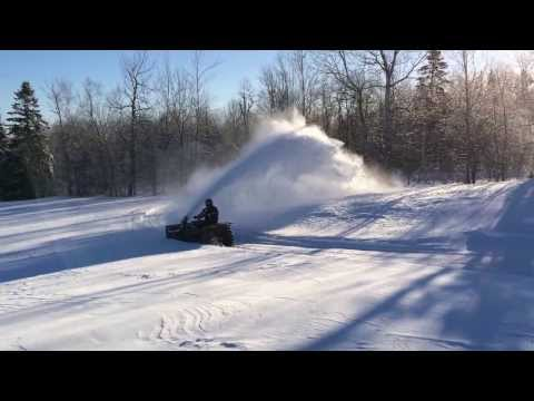 Kimpex ATV Snowblower in Action