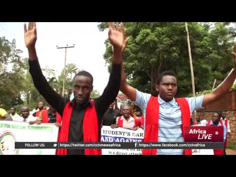 Uganda University Students Demonstrate Against Terrorism