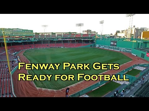 Fenway Park Gets Ready for BC vs. Notre Dame Dave Mellor Groundskeeper