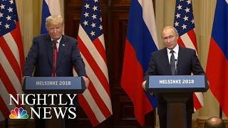 Helsinki Summit: President Trump Backs Vladimir Putin On Election Interference | NBC Nightly News