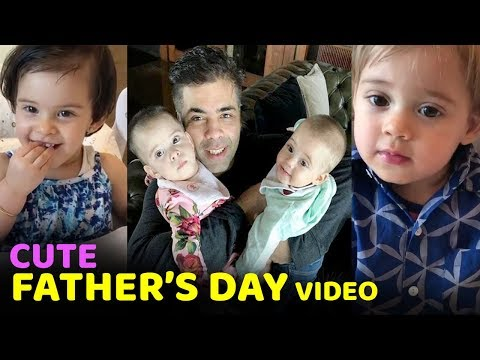 Karan Johar's CUTE Moment With ADORABLE Kids YASH & ROOHI Celebrating Father's Day |Must Watch VIDEO