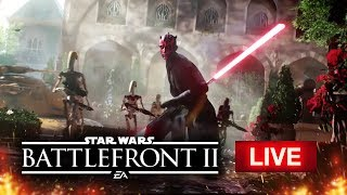 Star Wars Battlefront 2 LIVE Gameplay at EA Play 2017!  Clone Wars Multiplayer Gameplay on Theed!