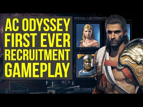 Assassin's Creed Odyssey Gameplay RECRUITMENT SYSTEM Is Pretty Big (AC Odyssey Gameplay)