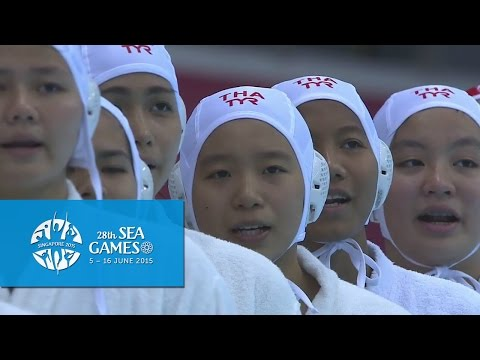 Waterpolo Women's Thailand vs Singapore | 1st Quarter Highlights | 28th SEA Games Singapore 2015