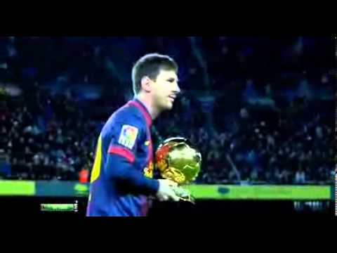 Leo Messi shows his ballons d' or in game vs Malaga 16 01 2013