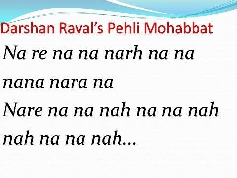 Darshan's Pehli Mohabbat Full Song With Lyrics video