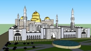 Sketchup Cami Çizimi ( mosque drawing ) Part 2
