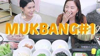 MUKBANG#1: KOREAN Grill + Ramyun    Madam Mukbang ♥
