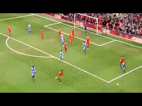 Raheem Sterling KNOCKS DOWN Vincent Kompany Liverpool vs Manchester City 2-1 HD