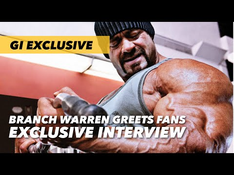 Branch Warren Greets Fans at Nutrition Locker | Generation Iron