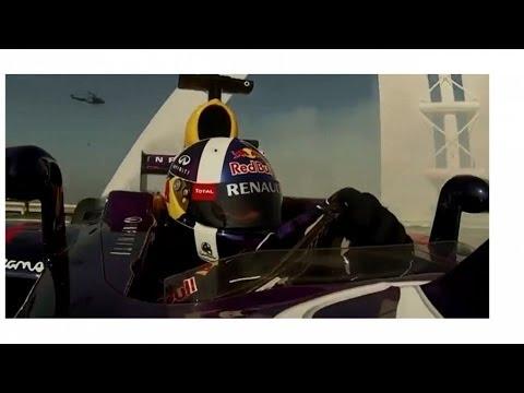 Krasser Formel 1 Stunt 210 M über Dem Meer!!!