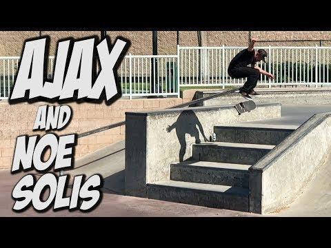 AJAX & NOE SOLIS INSANE SKATE DAY !!! - NKA VIDS -