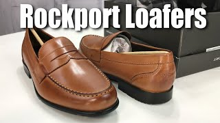 Rockport Men's Classic Leather Penny Loafer Shoe In Cognac Review