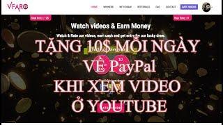 Xem video trên youtube kiếm được tiền về Paypal min rút 1$