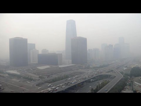 Beijing shrouded with smog heavy polluted china air quality sky PM 2 5 Envireoment protection