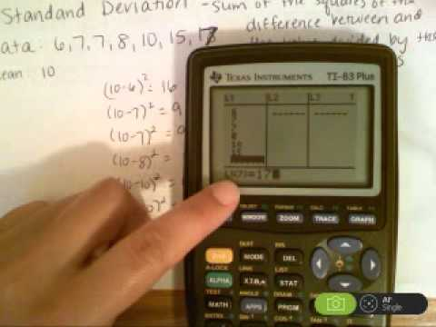 Calculating Standard Deviation with a calculator