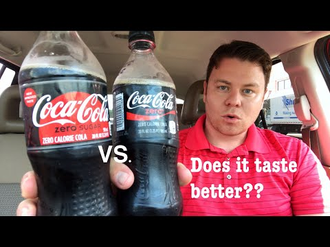 COCA-COLA ZERO SUGAR REVIEW AND COMPARE VS. COKE ZERO