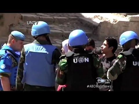 Syria Massacre: UN Monitors Fired Upon?