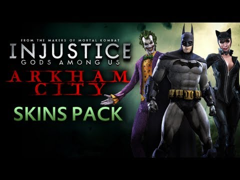 Injustice: Gods Among Us - Batman: Arkham City Skins Gameplay