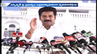 TTDP MLA Revanth Reddy Questions CM KCR over TDP MLAs Suspension From TS Assembly