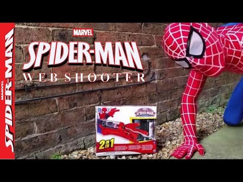 Amazing Spiderman Mega Blaster Web Shooter Real Toy Spiderman vs Fly. Real Life Superhero Movie