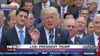 FULL: Republican Celebration At White House After House Obamacare Repeal (FNN)