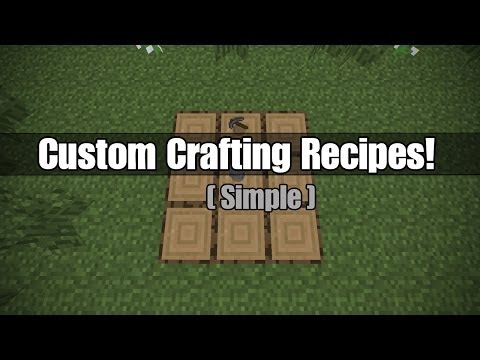 Custom Crafting Recipes in Vanilla Minecraft