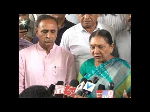 Gujarat CM interacts with media after taking assessment of relief works at Amreli
