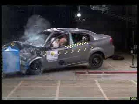 Краш-тест Chevrolet Aveo Седан от EuroNCAP. Фронтальный удар