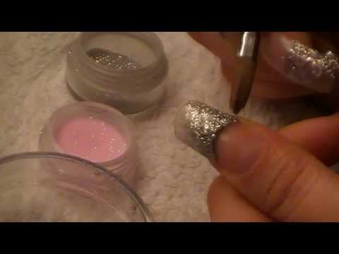 Sparkly Valentine Discoball Acrylic Nails Tutorial