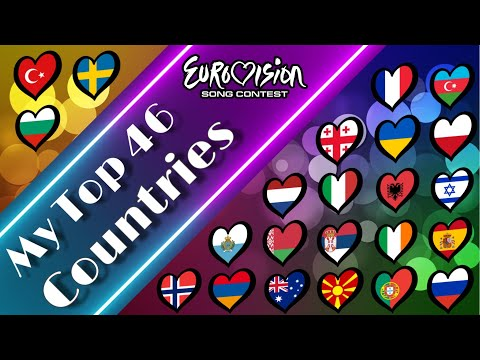 EUROVISION : My Top 46 Countries ( 2010 - 2019 )