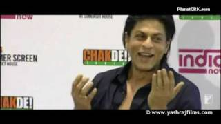Shah Rukh Khan at Chak De India UK Premiere