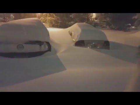 Massive Snow Storm blizzard 2016 Hits Virginia Maryland Washington DC, Sarah Daho