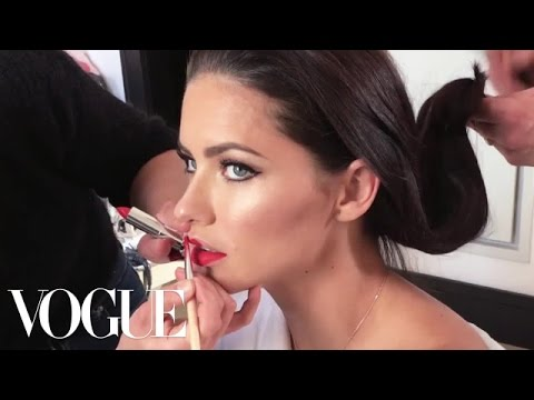 Supermodel Adriana Lima Gets Ready for the Met Gala