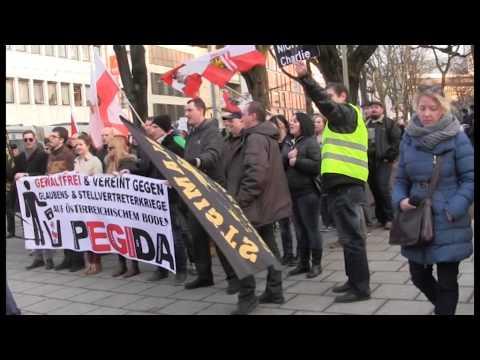 Pegida Linz: Ihr könnt nach Hause gehn....