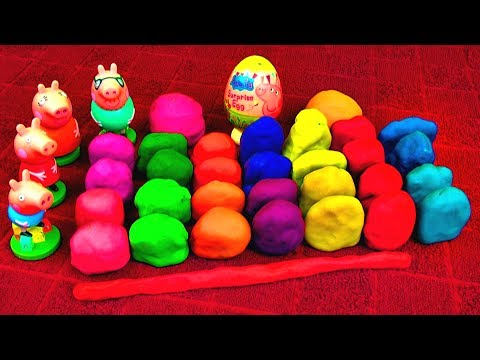 30 Surprise Eggs PEPPA PIG Play Doh Spongebob Despicable Me 2 Disney Cars Toys Super Mario Playdough
