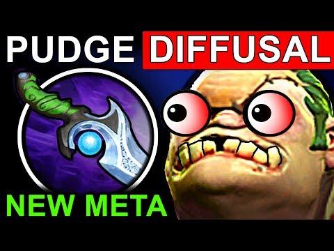 PUDGE DIFFUSAL - DOTA 2 PATCH 7.06 NEW META PRO GAMEPLAY