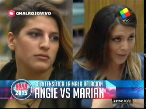 """Gran Hermano 2015"": Angie a Marian: ""Yo vine a jugar, vos viniste a cog…"""
