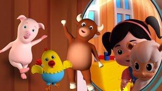 Mary có một con cừu nhỏ | đoạn thơ | Trẻ em bài hát | Mary Had A Little Lamb | 3D Cartoon