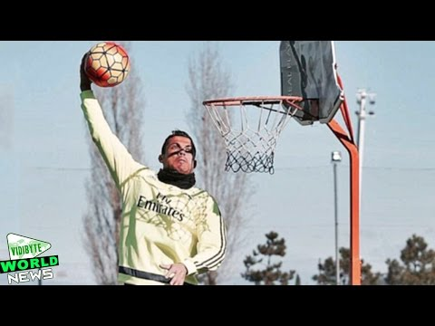 Cristiano Ronaldo Shows Off Basketball Skills at Real Madrid Training