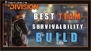 BEST Darkzone Skills and Talents Build (Team Survivability) | The Division